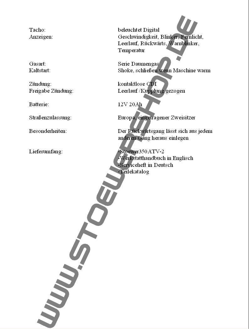 Klicken Sie hier für eine Großansicht der technischen Daten Seite 2